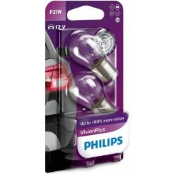 Philips VISION PLUS PHILIPS P21W 2ks