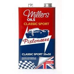 MILLERS OILS Classic Sport Pistoneeze 20W50, motorový polosyntetický olej, 5L
