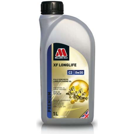 MILLERS OILS XF LONGLIFE C2 0W30, 1L
