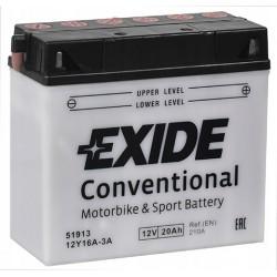 12Y16A-3A startovací baterie EXIDE