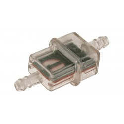 palivový filtr hranatý s kovovým sítkem (pro vnitřní průměr hadice 5-6mm)