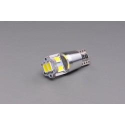 žárovka LED 12V 5W W2,1x9,5d čirá 6xLED 5630 CANBUS